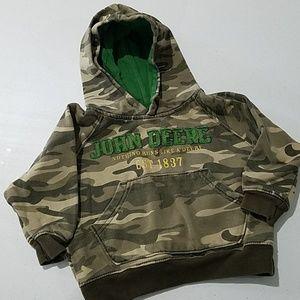 John Deere tractor 3T camo hoodie sweater